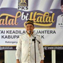 Halal Bihalal DPD PKS Lebak Meriah dan Khidmat