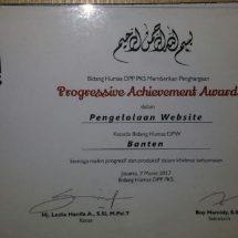 Humas PKS Banten Terima Progessive Achievement Award