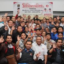 Anies Sandi Komitmen Sejahterakan Buruh dan Pekerja di Jakarta