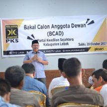 PKS Lebak Kumpulkan BCAD Pemilu 2019