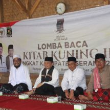 Ketua FPKS DPR-RI Membuka Lomba Baca Kitab Kuning di Pesantren Nurul Huda Baros