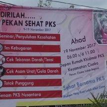 PKS Serentak Adakan Pekan Sehat di 29 Kecamatan