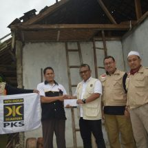 PKS Banten Sumbang Material Bangunan Untuk Korban Gempa