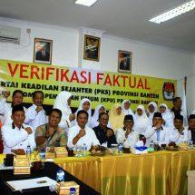 PKS Ngopi Bareng Tim Verifikasi KPU Banten