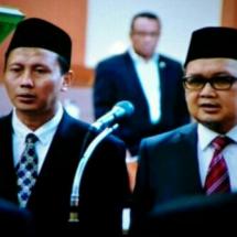 Aus Hidayat Nur dan Dr Slamet Dilantik PAW Anggota DPR FPKS