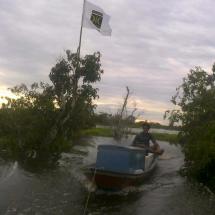Agar Warga tak Tersesat, PKS Muara Beloan Pasang Anjir