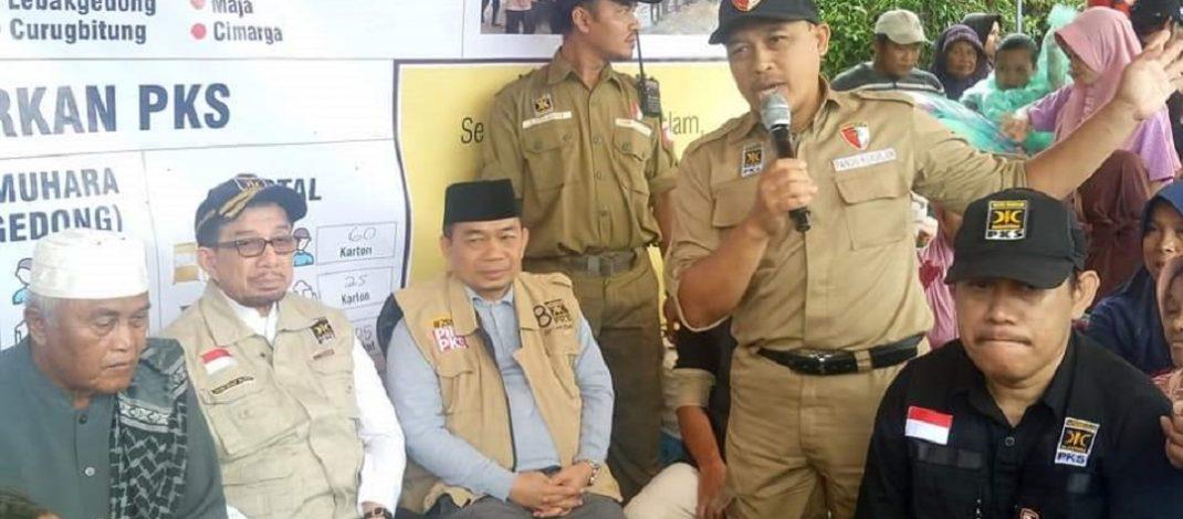 Antisipasi Kelaparan, PKS Banten Prioritaskan Logistik Makanan untuk Pengungsi